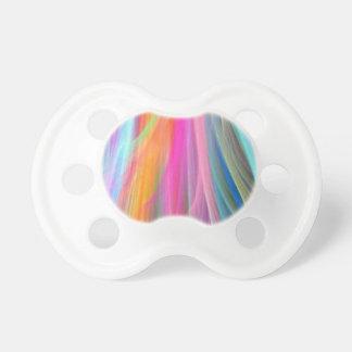 Diseño abstracto colorido chupetes de bebe