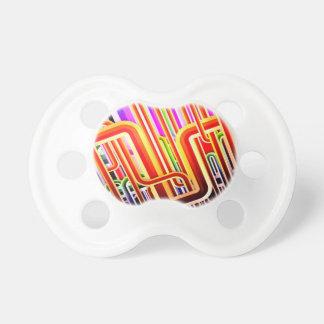 Diseño abstracto colorido chupetes para bebés