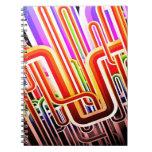 Diseño abstracto colorido cuadernos