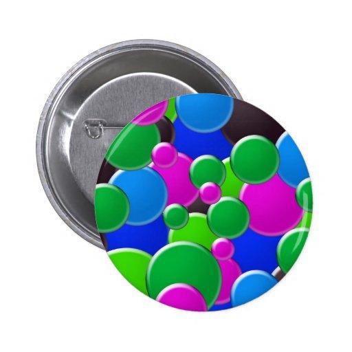 Diseño abstracto colorido de las burbujas pins