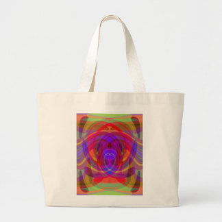 Diseño abstracto colorido del color 1 ardiente bolsas lienzo