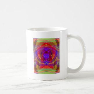 Diseño abstracto colorido del color 1 ardiente taza clásica