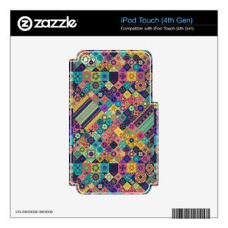 Diseño abstracto colorido del modelo de la teja calcomanía para iPod touch 4G