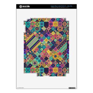 Diseño abstracto colorido del modelo de la teja iPad 3 skin