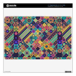 Diseño abstracto colorido del modelo de la teja MacBook skin