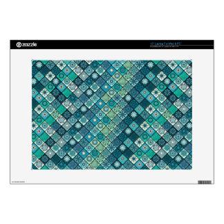 Diseño abstracto colorido del modelo de la teja portátil calcomanía