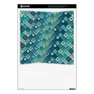 Diseño abstracto colorido del modelo de la teja skin para el xbox 360 s