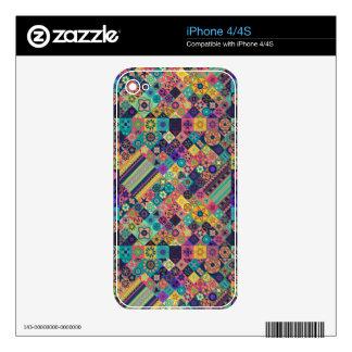 Diseño abstracto colorido del modelo de la teja skins para eliPhone 4