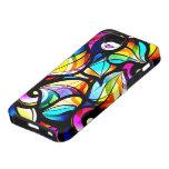 Diseño abstracto colorido del vitral iPhone 5 Case-Mate protectores