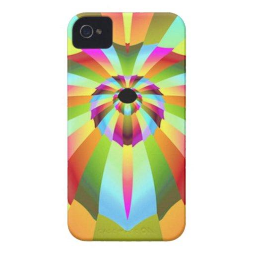 Diseño abstracto colorido Case-Mate iPhone 4 protector
