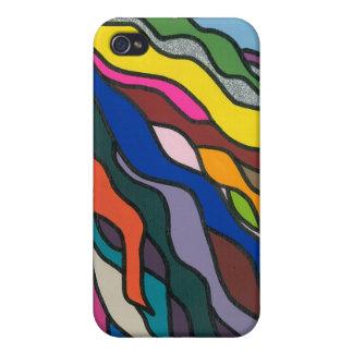 Diseño abstracto colorido iPhone 4 protectores