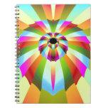 Diseño abstracto colorido libreta espiral