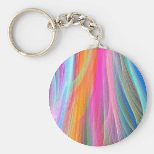 Diseño abstracto colorido llavero