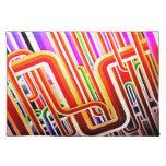 Diseño abstracto colorido mantel