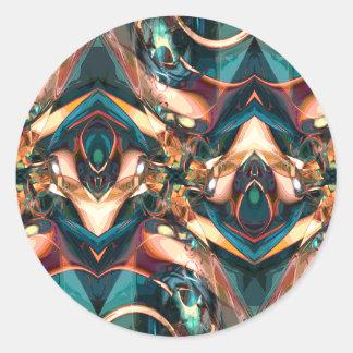 Diseño abstracto colorido pegatinas redondas