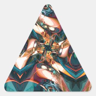Diseño abstracto colorido calcomanías de trianguladas