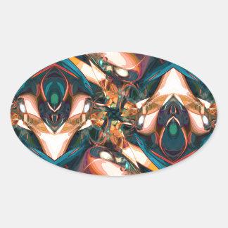 Diseño abstracto colorido calcomanías óvales