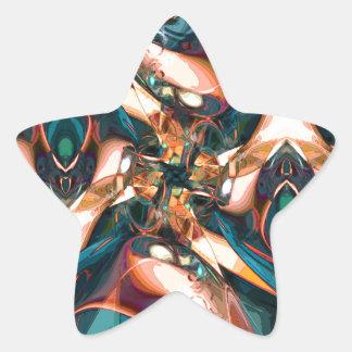 Diseño abstracto colorido colcomanias forma de estrellas
