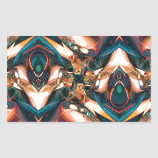 Diseño abstracto colorido rectangular pegatinas