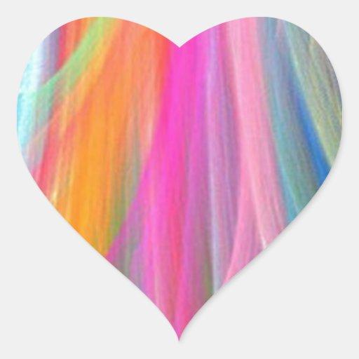 Diseño abstracto colorido pegatina de corazón