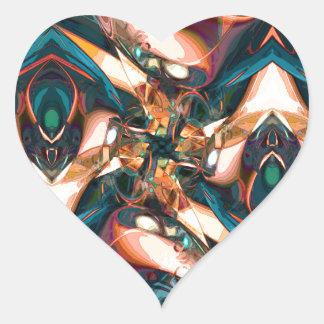 Diseño abstracto colorido pegatina en forma de corazón