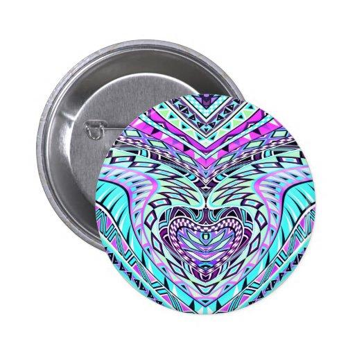 Diseño abstracto colorido pin