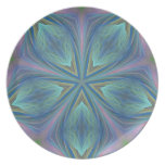 Diseño abstracto colorido plato de cena