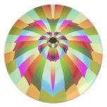 Diseño abstracto colorido platos
