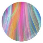 Diseño abstracto colorido platos de comidas