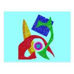 Diseño abstracto colorido postal