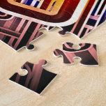 Diseño abstracto colorido puzzles