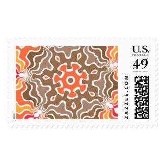 Diseño abstracto colorido sello