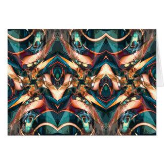 Diseño abstracto colorido tarjeta de felicitación