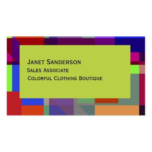 Diseño abstracto colorido tarjetas de visita