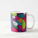 Diseño abstracto colorido taza