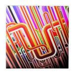 Diseño abstracto colorido teja  ceramica