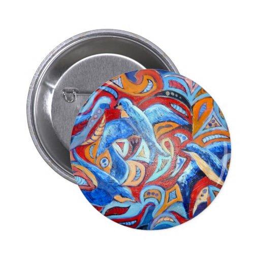 Diseño abstracto con los tragos del azul con acent pins