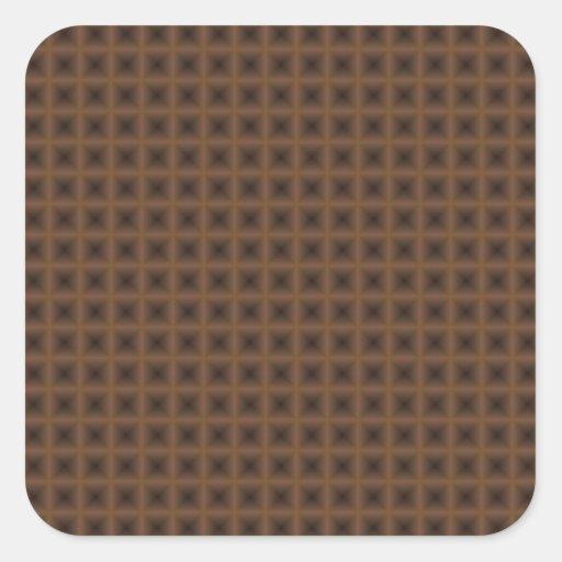 diseño abstracto cuadrado de bronce pegatina cuadrada