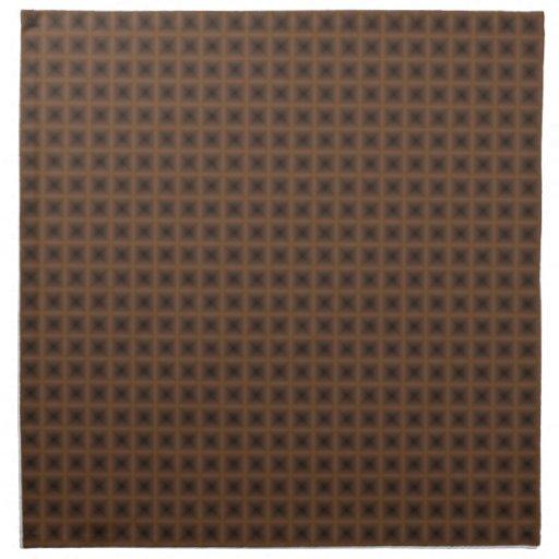 diseño abstracto cuadrado de bronce servilleta imprimida