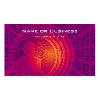 Diseño abstracto de alta tecnología del código tarjetas de visita