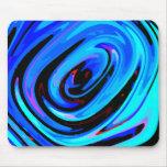 """Diseño abstracto de """"azul"""" sensación Mousepad colo"""