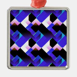 Diseño abstracto de color de malva azul ornamento de navidad