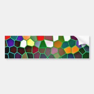 Diseño abstracto de Digitaces en pegatinas de los  Pegatina Para Auto