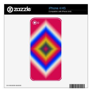 Diseño abstracto de encargo en rojo skins para iPhone 4S