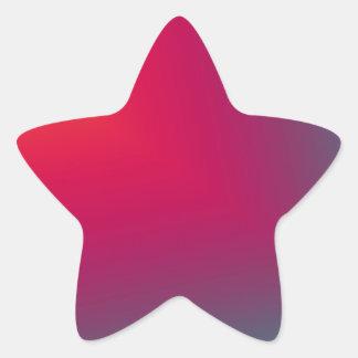 Diseño abstracto de encargo pegatina en forma de estrella