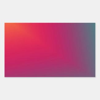 Diseño abstracto de encargo pegatina rectangular