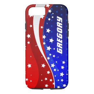 Diseño abstracto de la bandera americana de funda iPhone 7