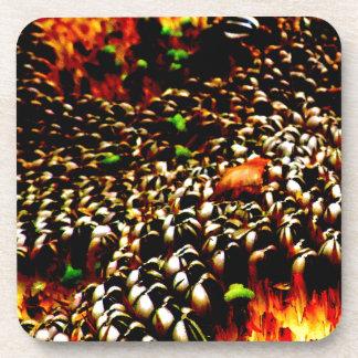 Diseño abstracto de la foto de la planta de posavasos