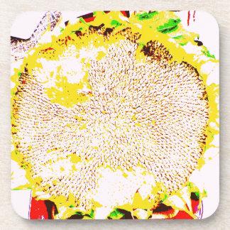 Diseño abstracto de la foto de las semillas de la posavasos