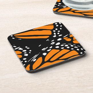 Diseño abstracto de la mariposa de monarca posavasos